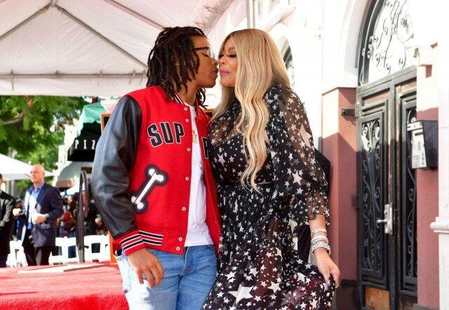 Wendy Williams and son kevin at walk of fame