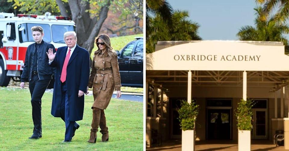 <p>Former U.S. President Donald Trump's youngest son Barron is set to enroll in the prestigious Oxbridge Academy this fall. (Photo courtesy of Shutterstock and Oxbridge Academy website)</p>
