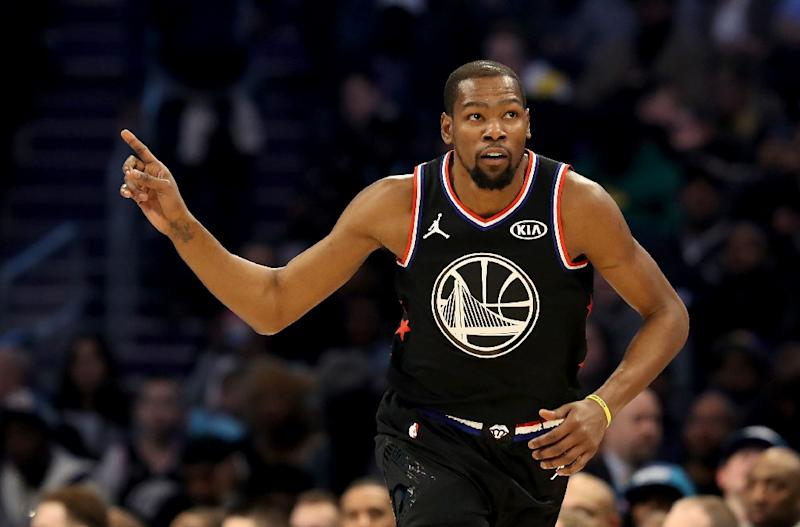 c6ec2fe608e Golden State star Kevin Durant claimed his second career MVP all-star award  as Team