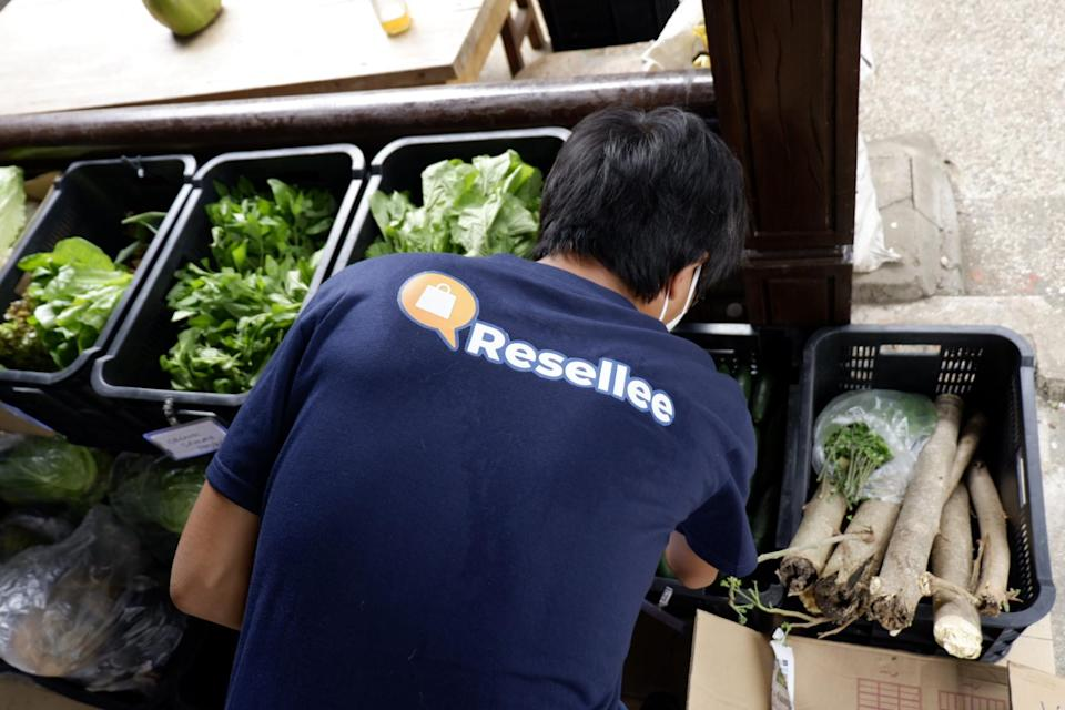 A delivery person for Resellee, a social commerce platform based in the Philippines