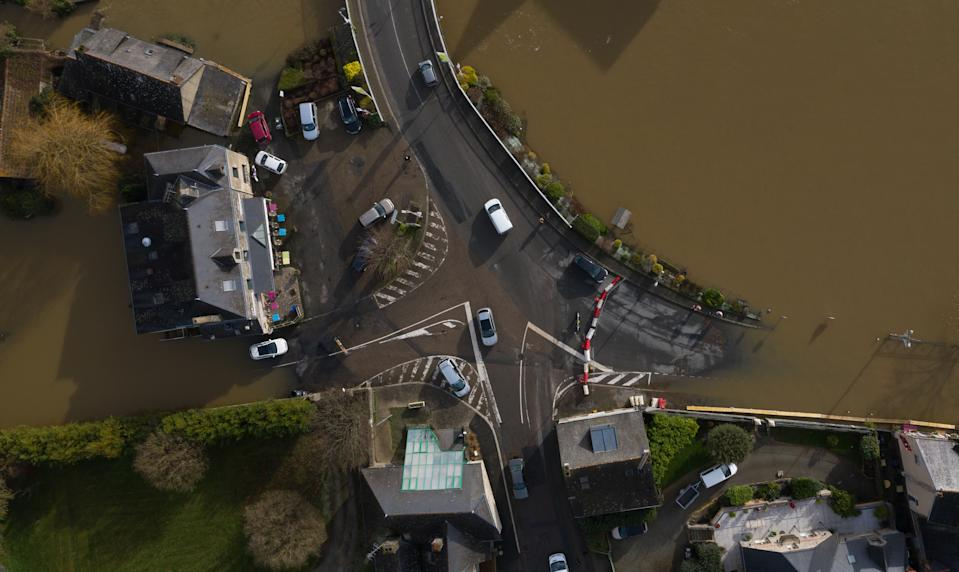 Guipry-Messac in Brittany was particularly affected by the flood after the passage of Storm Fabien. (Getty Images)