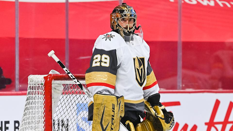 Marc-Andre Fleury has reportedly been traded to Chicago. (Photo by David Kirouac/Icon Sportswire via Getty Images)