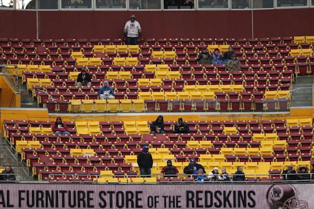 Plenty of good seats available in the third quarter of Sunday's Redskins-Giants game. (Getty)