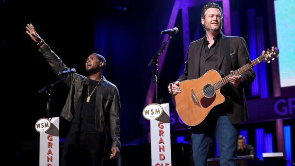 PHOTO: Usher and Blake Shelton perform onstage during Hand in Hand: A Benefit for Hurricane Relief at the Grand Ole Opry House on Sept. 12, 2017 in Nashville, Tenn. (John Shearer/Hand in Hand/Getty Images)