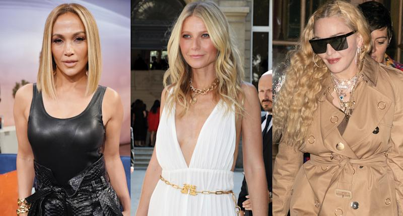 Jennifer Lopez, Gwyneth Paltrow and Madonna Photo: Getty Images