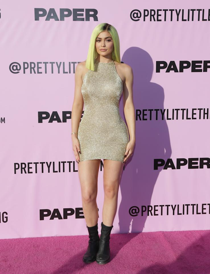 <p>Kylie Jenner at the PrettyLittleThing x Paper Magazine party</p>