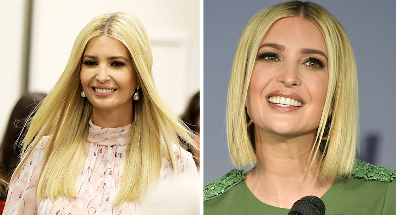 Ivanka's hair has had a dramatic makeover. [Photo: Getty 2019]