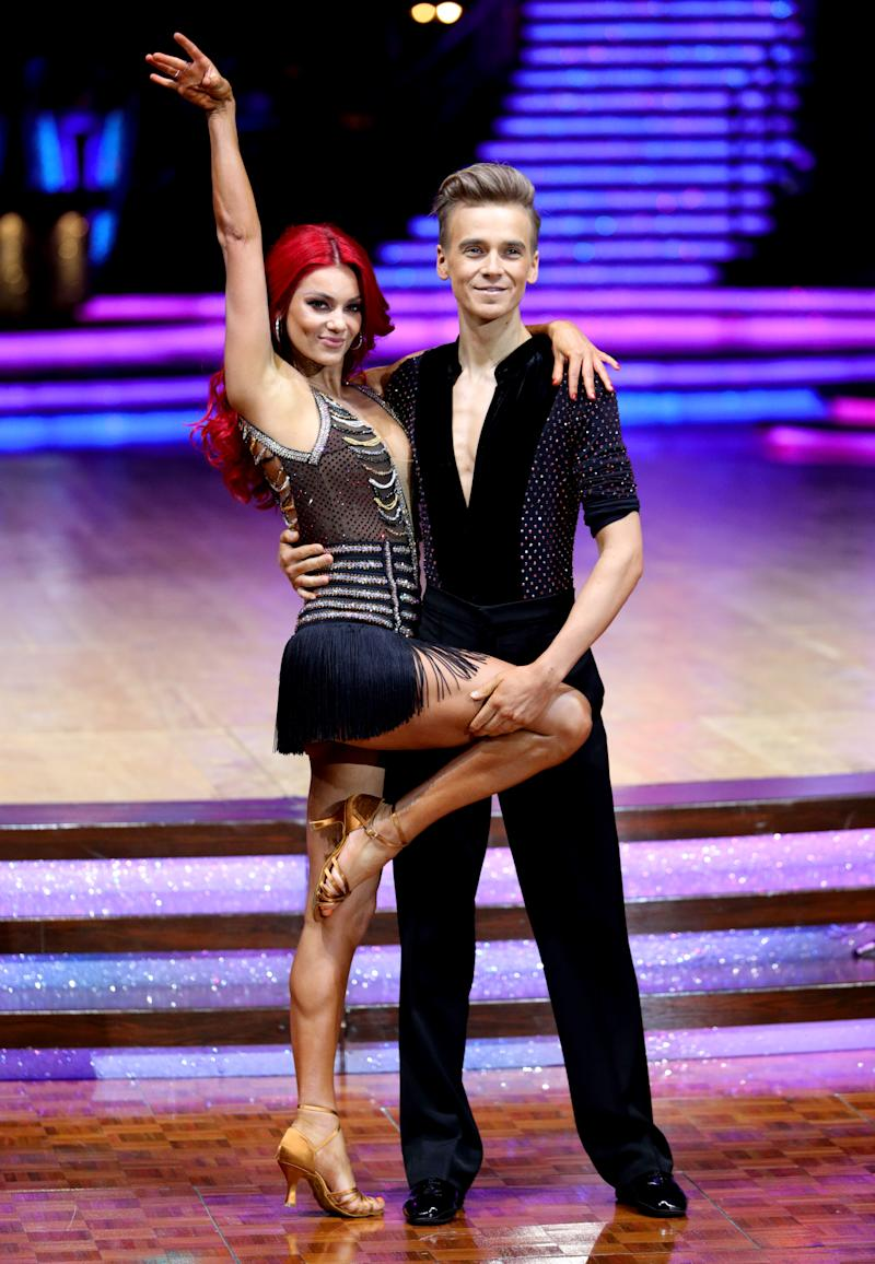 Joe Sugg and Dianne Buswell pose for photographers during a photocall before the opening night of the Strictly Come Dancing Tour 2019 at the Arena Birmingham, in Birmingham. Picture date: Thursday January 17, 2019. Photo credit should read: Aaron Chown/PA Wire (Photo by Aaron Chown/PA Images via Getty Images)