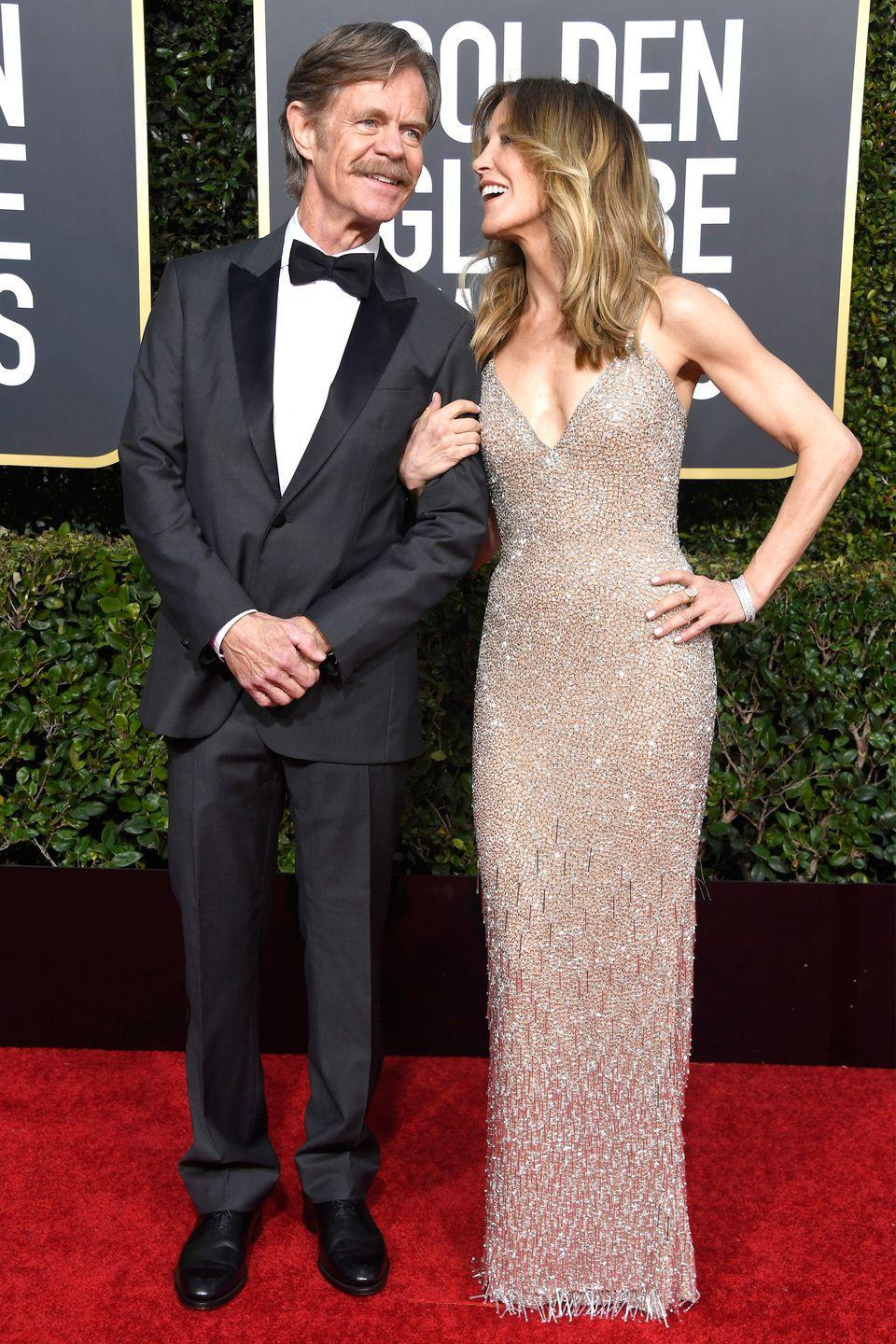 "<p><em>Desperate Housewives</em> actress Felicity Huffman and <em>Shameless </em>actor William H. Macy dated on-and-off for 15 years before finally marrying in 1997. H. Macy was 47, and Huffman was 35. ""I was so scared of marriage that I thought I would've preferred to step in front of a bus,"" Huffman told <a href=""http://triblive.com/aande/movies/7835836-74/says-lazy-huffman#axzz3SfMNYMQ7"" rel=""nofollow noopener"" target=""_blank"" data-ylk=""slk:Tribune News"" class=""link rapid-noclick-resp""><em>Tribune News</em></a> on her hesitation towards marriage. The couple has two daughters together. </p>"