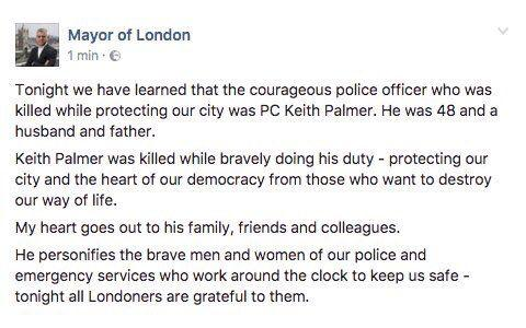 Source: Facebook/Mayor of London