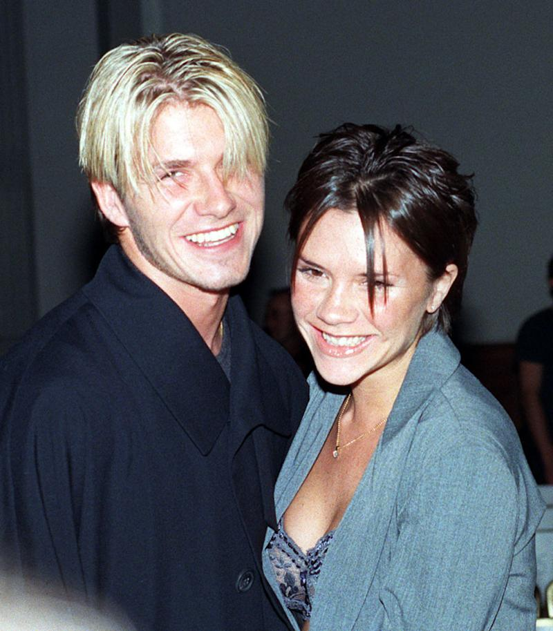 Thew new couple attend the Antonio Berardi fashion show held in London in 1998. (Getty Images)