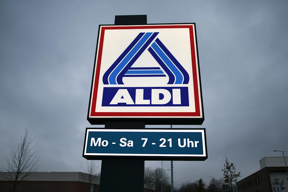 13 January 2020, Hessen, Baunatal: The sign in front of the parking lot of a branch of the discount store Aldi-Nord, taken at dawn. Photo: Uwe Zucchi/dpa (Photo by Uwe Zucchi/picture alliance via Getty Images)