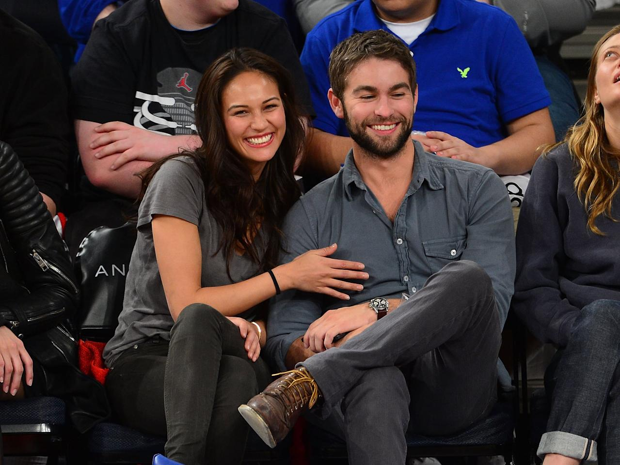 "<p>Chace and the model started dating in March 2013 while he was still living in NYC. During an interview on the <strong>The Kyle and Jackie O Show</strong> in 2014, Chace discussed how their breakup had been amicable, saying, ""<product href=""https://www.eonline.com/news/560256/chace-crawford-and-rachelle-goulding-break-up"" target=""_blank"" class=""ga-track"" data-ga-category=""internal click"" data-ga-label=""https://www.eonline.com/news/560256/chace-crawford-and-rachelle-goulding-break-up"" data-ga-action=""body text link"">We had fun</product>."" As to why they broke up, it seems the long distance proved to be too much since Chace moved to LA to focus on his film career while <product href=""https://www.eonline.com/news/403471/chace-crawford-s-new-gal-pal-5-things-to-know-about-rachelle-goulding"" target=""_blank"" class=""ga-track"" data-ga-category=""internal click"" data-ga-label=""https://www.eonline.com/news/403471/chace-crawford-s-new-gal-pal-5-things-to-know-about-rachelle-goulding"" data-ga-action=""body text link"">Rachelle stayed in NYC</product>.</p>"
