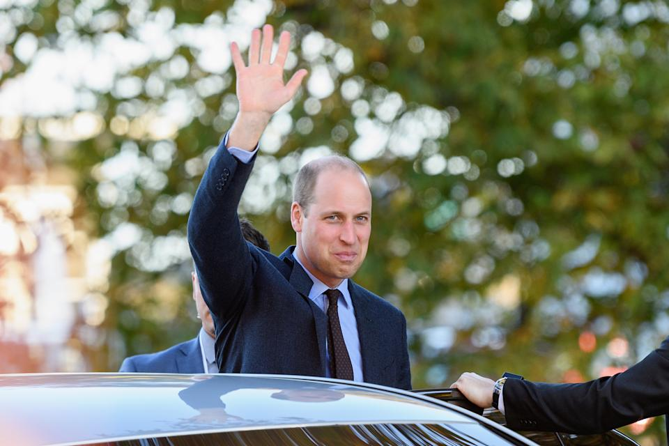 CHRISTCHURCH, NEW ZEALAND - APRIL 26: Prince William, Duke of Cambridge waves to the crowd as he leaves a walkabout at Oi Manawa Canterbury Earthquake National Memorial on April 26, 2019 in Christchurch, New Zealand. Prince William is on a two-day visit to New Zealand to commemorate the victims of the Christchurch mosque terror attacks. (Photo by Kai Schwoerer/Getty Images)