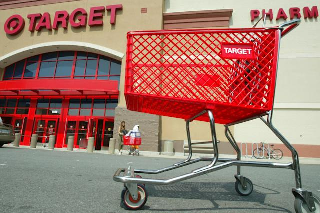 "The outside of a Target store. Social media users say the chain store is selling ""baby daddy"" cards for Father's Day. (Photo: Getty Images)"