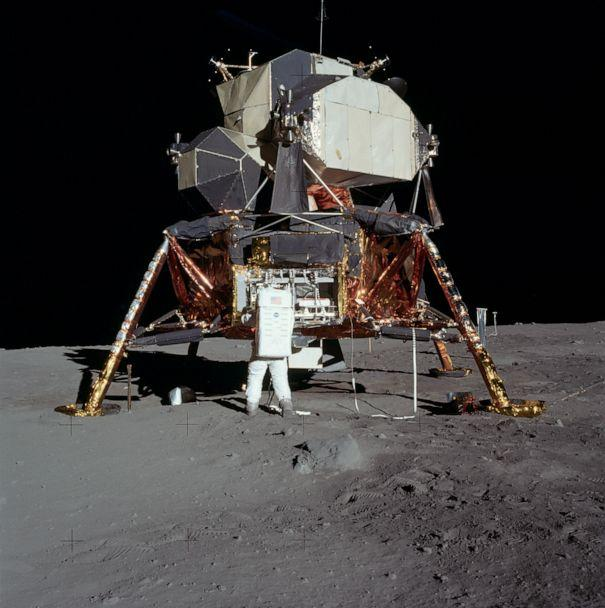 PHOTO: The Apollo 11 Lunar Module (LM) 'Eagle' was the first crewed vehicle to land on the Moon. (NASA)