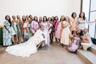 The Lovely Ladies of Alpha Kappa Alpha Sorority, Incorporated, Alpha Chapter. So much love! They came from all over the country to celebrate our wedding weekend. I love them dearly.