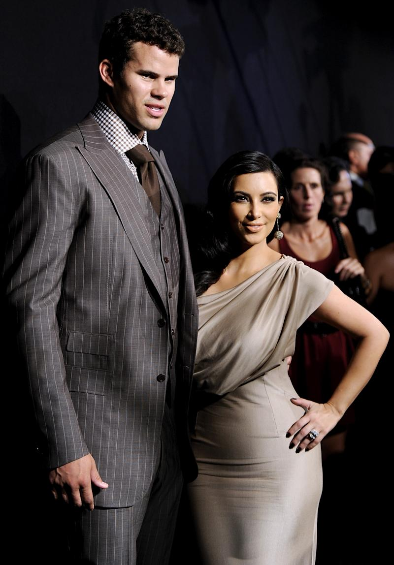FILE - In this Aug. 31, 2011 file photo, newlyweds Kim Kardashian and Kris Humphries attend a party thrown in their honor at Capitale in New York. Kardashian's divorce attorney told a judge Friday, May 4, 2012, that she believes Humphries' hurt feelings about the marriage are slowing down the case and that it could get very expensive for the NBA player if he continues to pursue his claims the couple's nuptials were a fraud. Humphries filed for an annulment of the couple's 72-day marriage on Thursday in Los Angeles. (AP Photo/Evan Agostini, file)