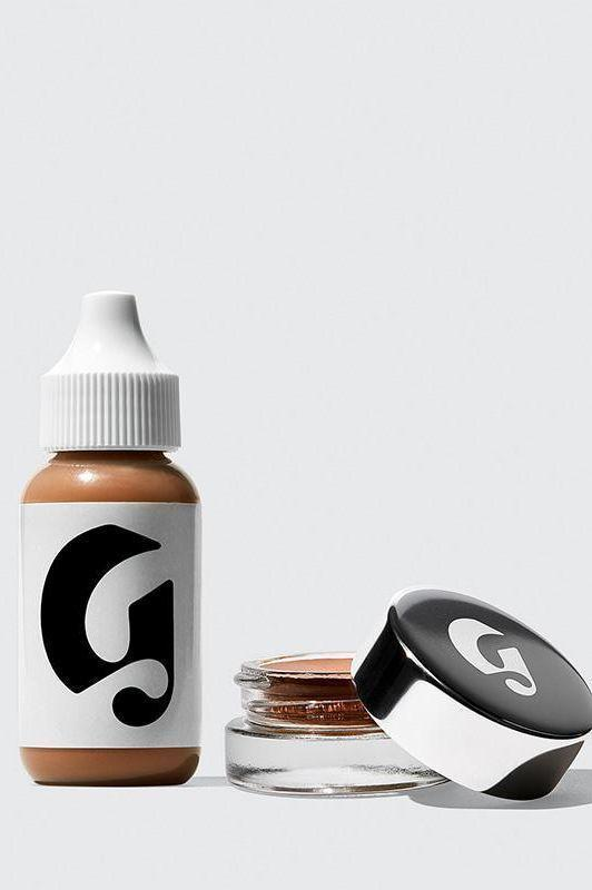 """<p><strong>Glossier</strong></p><p>glossier.com</p><p><a href=""""https://go.redirectingat.com?id=74968X1596630&url=https%3A%2F%2Fwww.glossier.com%2Fproducts%2Fperfecting-skin-tint-stretch-concealer-duo&sref=https%3A%2F%2Fwww.harpersbazaar.com%2Fbeauty%2Fmakeup%2Fg36662415%2Fglossier-sale-2021%2F"""" rel=""""nofollow noopener"""" target=""""_blank"""" data-ylk=""""slk:Shop Now"""" class=""""link rapid-noclick-resp"""">Shop Now</a></p><p><strong><del>$36</del> $29 </strong><strong>(20% off)</strong></p><p>This duo contains two of Glossier's most popular makeup products for creating a barely-there makeup look. </p><p>The blendable <a href=""""https://go.redirectingat.com?id=74968X1596630&url=https%3A%2F%2Fwww.glossier.com%2Fproducts%2Fstretch-concealer&sref=https%3A%2F%2Fwww.harpersbazaar.com%2Fbeauty%2Fmakeup%2Fg36662415%2Fglossier-sale-2021%2F"""" rel=""""nofollow noopener"""" target=""""_blank"""" data-ylk=""""slk:Stretch Concealer"""" class=""""link rapid-noclick-resp"""">Stretch Concealer</a> works to reduce redness and blemishes, while the ultra light <a href=""""https://go.redirectingat.com?id=74968X1596630&url=https%3A%2F%2Fwww.glossier.com%2Fproducts%2Fperfecting-skin-tint&sref=https%3A%2F%2Fwww.harpersbazaar.com%2Fbeauty%2Fmakeup%2Fg36662415%2Fglossier-sale-2021%2F"""" rel=""""nofollow noopener"""" target=""""_blank"""" data-ylk=""""slk:Perfecting Skin Tint"""" class=""""link rapid-noclick-resp"""">Perfecting Skin Tint</a> helps balance your complexion and create a brightened look. </p>"""