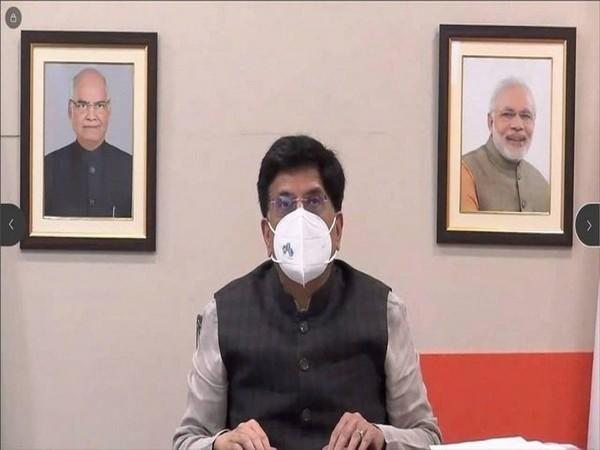 Union Minister for Commerce and Industry, Piyush Goyal during the review meeting (Photo/Twitter)