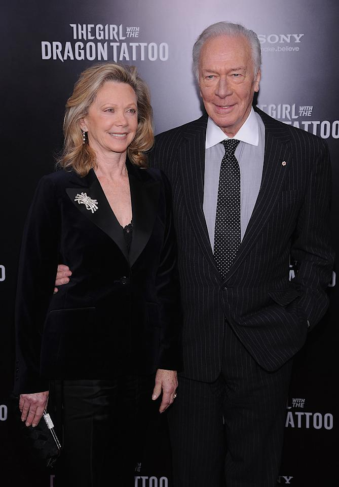 """<a href=""""http://movies.yahoo.com/movie/contributor/1800016460"""">Christopher Plummer</a> at the New York premiere of <a href=""""http://movies.yahoo.com/movie/1810163569/info"""">The Girl With the Dragon Tattoo</a> on December 14, 2011."""