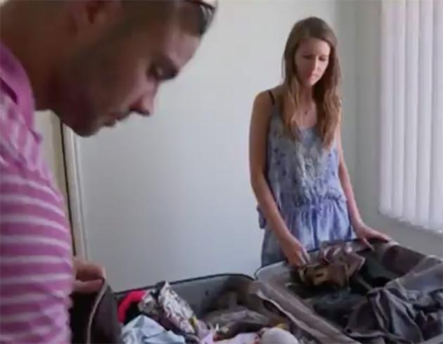 Things get awkward when Bryce and Erin discuss having kids. Photo: Channel 9