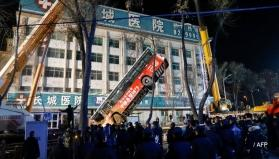 China: Huge sinkhole swallows bus, 6 dead