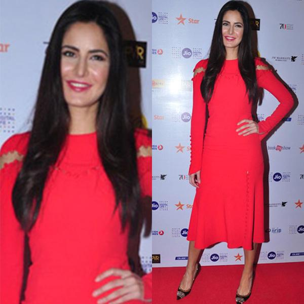 <p>For the Fashion in Film talk at the MAMI Film Festival last year, Katrina Kaif flaunted her lithe frame in a bold red dress by Prabal Gurung. </p>