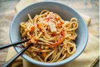 <p>Usually you mix this delicious summer-heat-beater of a dish with creamy peanut, which you can and should still do for the texture, but add a little powder for even more peanut oomph.</p>