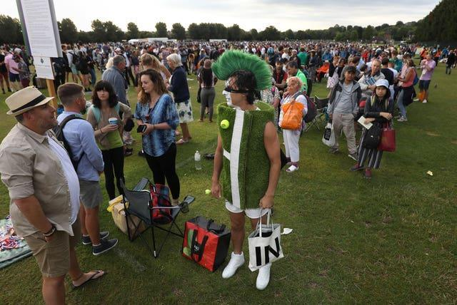 The queue for tickets will not be part of the 2021 Wimbledon experience, but organisers are hoping to welcome spectators back to SW19