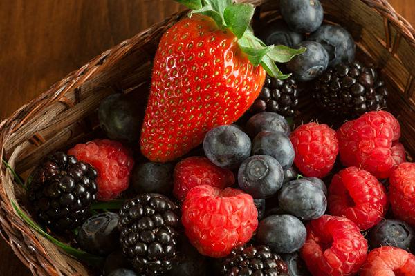 <b>Face-friendly food 1: Berries</b><br>Berries act as the perfect healthy skin pick 'n' mix as they provide the perfect combo of antioxidants and vitamins C and E in an easy pick-up package. Vitamin C is really face-friendly as it helps produce collagen, the facial framework tissue which keeps your complexion plump and smooth. Blackberries, raspberries, strawberries and blueberries are some of our favorites and easy as to get into your daily diet, but make sure they are eaten fresh and unheated; you'll get the most antioxidants and vitamins that way.