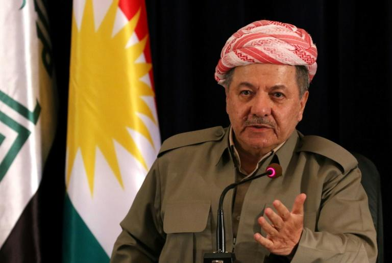 Iraqi Kurdish leader Massud Barzani vows to hold an independence referendum at a press conference in Arbil on September 24, 2017, the eve of the vote, despite angering the country's central government