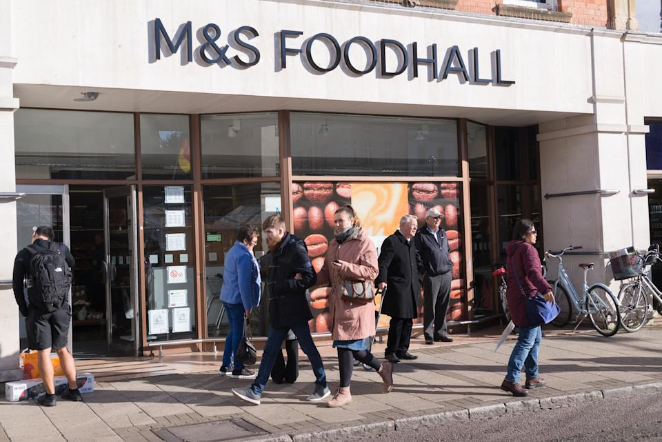 Mark and Spencer Foodhall in Cambridge, UK. Photo: Getty Images