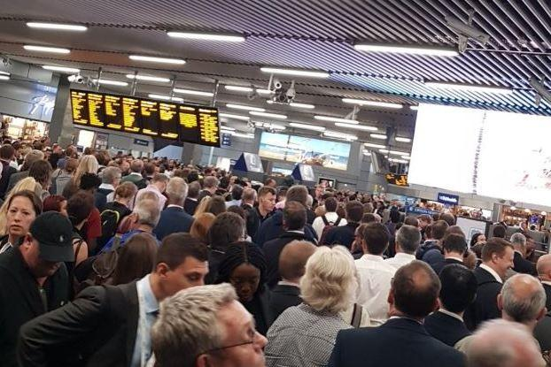 There were delays on Southeastern trains as commuters tried to make their way home: Alex Franklin