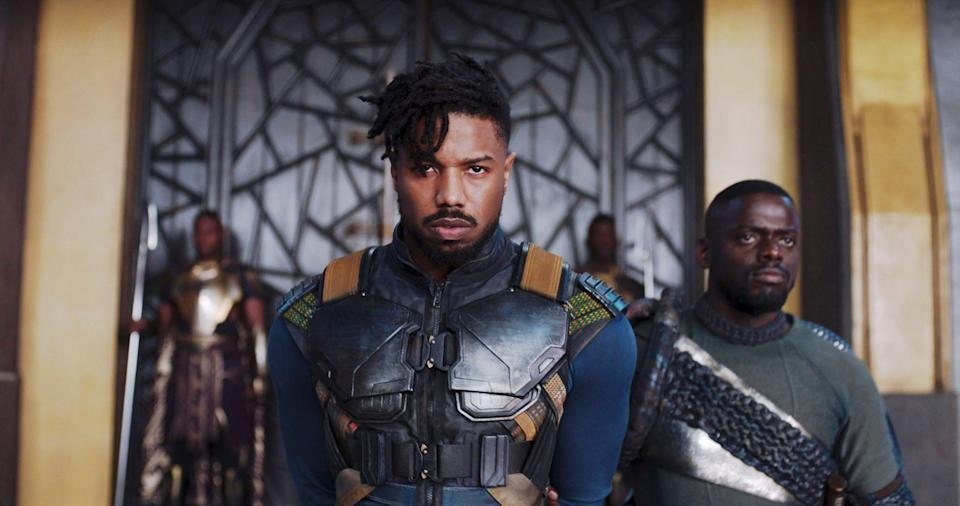 "<p>While the new leader of Wakanda is still unknown, Feige previously expressed interest in <a href=""https://ew.com/movies/2018/03/09/marvel-studios-kevin-feige-mcu-future/"" class=""link rapid-noclick-resp"" rel=""nofollow noopener"" target=""_blank"" data-ylk=""slk:giving more screen time to Letitia Wright, who plays Shuri"">giving more screen time to Letitia Wright, who plays Shuri</a>, and Danai Gurira, who portrays Okoye. ""I think Shuri's astounding, and you'll see much more of her in our universe,"" Feige told <strong>Entertainment Weekly</strong> in March 2018. ""Okoye, I think I'd watch three action films just Okoye. I'm not saying we're doing that, but I'm saying that we're intrigued by them.""</p> <p>There's also been some speculation that Michael B. Jordan – who played Erik Stevens, aka Killmonger, in the original - <a href=""https://metro.co.uk/2018/05/22/donald-glover-and-michael-b-jordan-in-talks-with-ryan-coogler-for-black-panther-2-7568818/"" class=""link rapid-noclick-resp"" rel=""nofollow noopener"" target=""_blank"" data-ylk=""slk:will play some part"">will play some part</a>, despite his onscreen death. In May 2018, <strong>Metro</strong> reported: ""They're still yet to decide if Michael B Jordan will return in some capacity but if he doesn't it's likely [Childish] Gambino may play some kind of villain."" That's especially interesting, considering Donald Glover (who uses Childish Gambino as his musical stage name) already made his Marvel Cinematic Universe debut in <strong>Spider-Man: Homecoming</strong> as Aaron Davis. In April, Jordan admitted that <a href=""http://ew.com/movies/michael-b-jordan-black-panther-2-killmonger-return/"" class=""link rapid-noclick-resp"" rel=""nofollow noopener"" target=""_blank"" data-ylk=""slk:it's unlikely he'll return for the second film"">it's unlikely he'll return for the second film</a>, but he's also not ruling it out entirely. ""Never say never,"" he said on SiriusXM's Jess Cagle Show. ""I can't predict the future.""</p>"