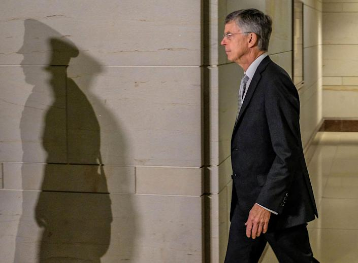 U.S. Diplomat Bill Taylor arrives on Capitol Hill on October 22, 2019 in Washington, DC. (Photo: Alex Wroblewski/Getty Images)