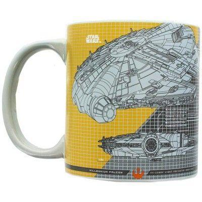 """<p><strong>Star Wars</strong></p><p>target.com</p><p><strong>$14.99</strong></p><p><a href=""""https://www.target.com/p/seven20-star-wars-millennium-falcon-tech-20oz-ceramic-mug/-/A-75532591"""" rel=""""nofollow noopener"""" target=""""_blank"""" data-ylk=""""slk:BUY NOW"""" class=""""link rapid-noclick-resp"""">BUY NOW</a></p><p>No one's ever <em>not </em>happy to receive another coffee cup, especially one as neat as this guy.</p>"""