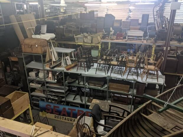 The P.E.I. Museum has thousands of artifacts in storage. (Shane Hennessey/CBC - image credit)