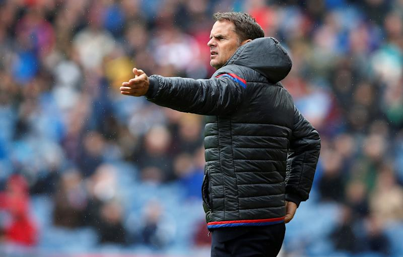 """Soccer Football - Premier League - Burnley vs Crystal Palace - Burnley, Britain - September 10, 2017 Crystal Palace manager Frank De Boer REUTERS/Andrew Yates No use with unauthorized audio, video, data, fixture lists, club/league logos or """"live"""" services. Online in-match use limited to 75 images, no video emulation. No use in betting, games or single club/league/player publications. Please contact your account representative for further details."""