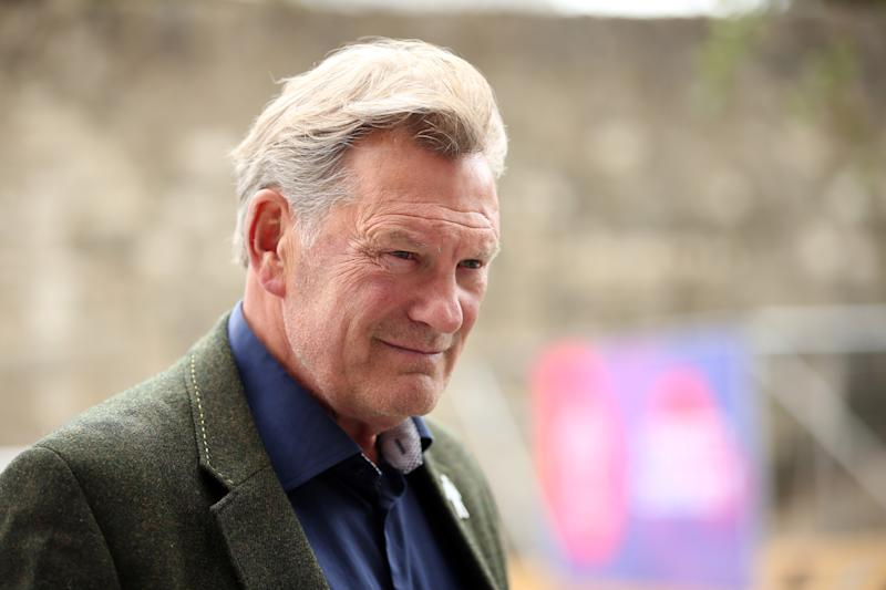 SOUTHAMPTON, ENGLAND - JUNE 14: English former footballer and manager Glenn Hoddle talks to the media during his visit to the Southampton fanzone during the ICC Cricket World Cup 2019 at Westquay on June 14, 2019 in Southampton, England. (Photo by Luke Walker-ICC/ICC via Getty Images)