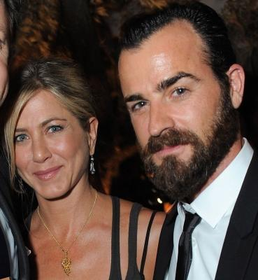 Jennifer Aniston and Justin Theroux step out together at the Movie Awards After Party Sponsored By Yoostar at Soho House in West Hollywood, Calif. on June 5, 2011  -- WireImage