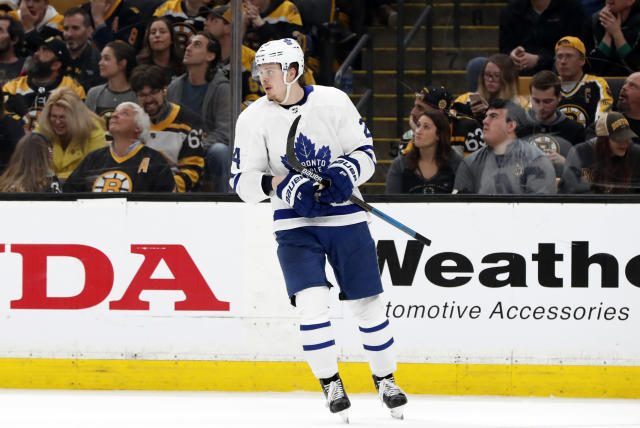 Kasperi Kapanen is bringing a new dynamic to the Maple Leafs' second unit. (Photo by Fred Kfoury III/Icon Sportswire via Getty Images)