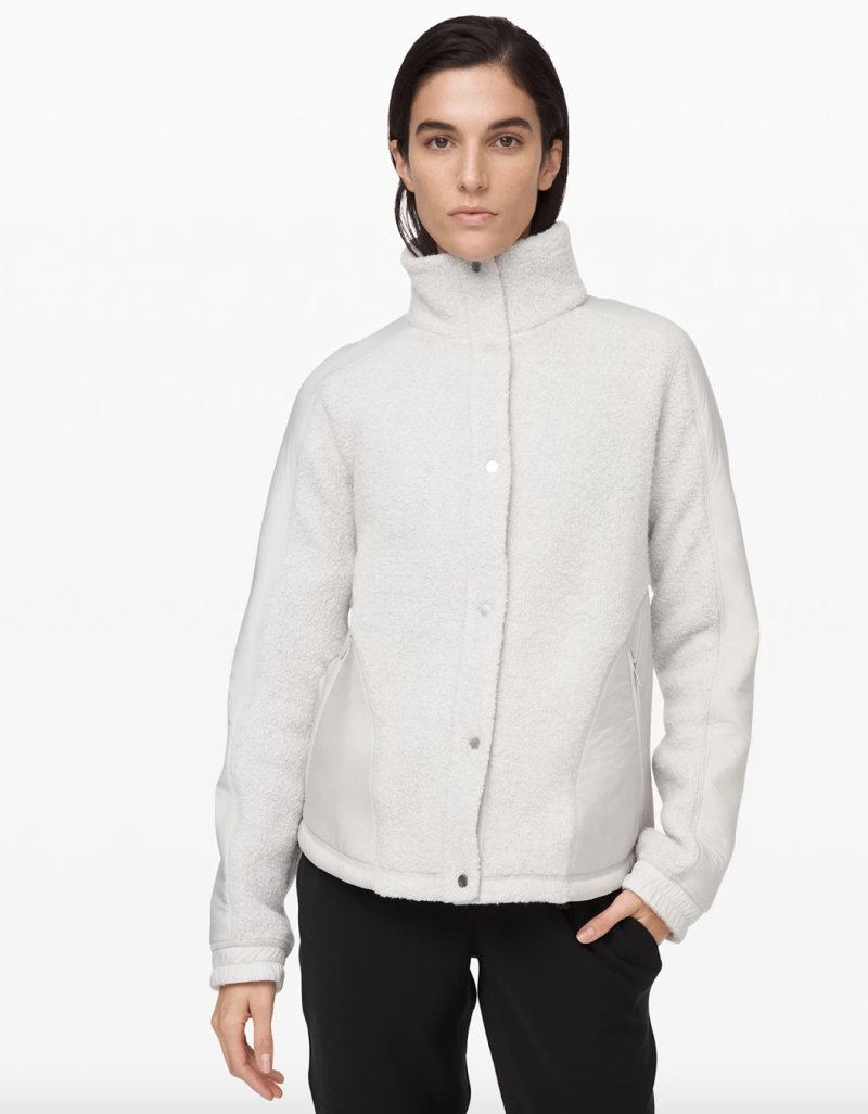 Go Cozy Jacket in heathered ceramic