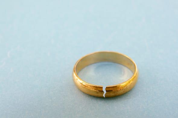 closeup of a gold wedding ring...