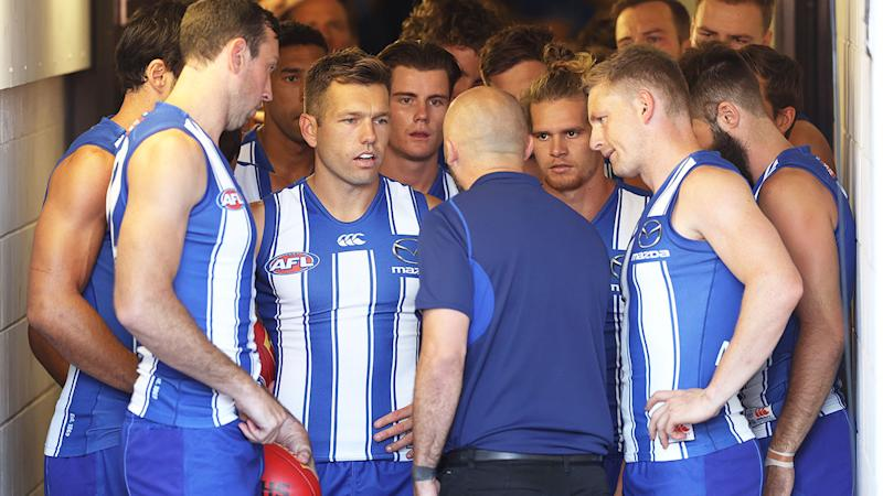North Melbourne's players have been called out for their worrying lack of form. Pic: Getty