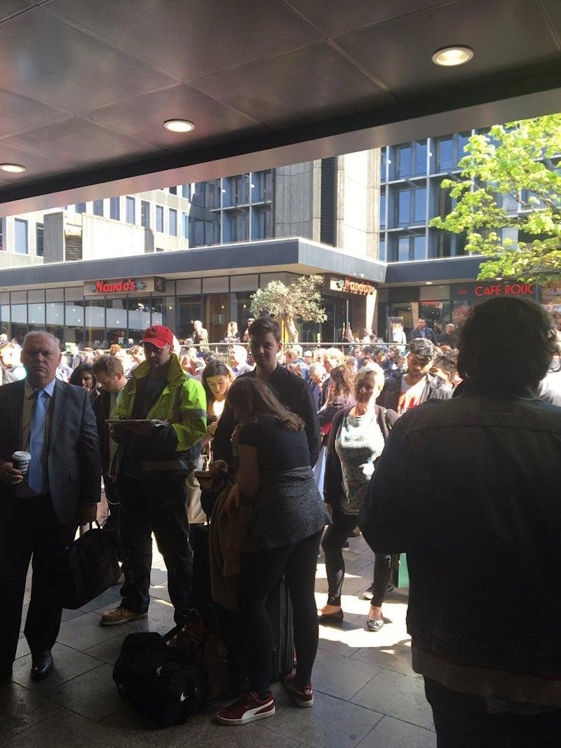 The fire caused chaos at Euston station throughout Wednesday afternoon
