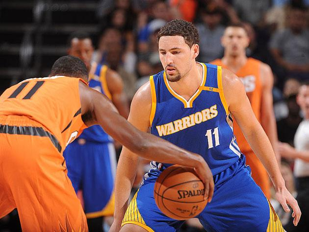 Klay Thompson hears the news. (Getty Images)