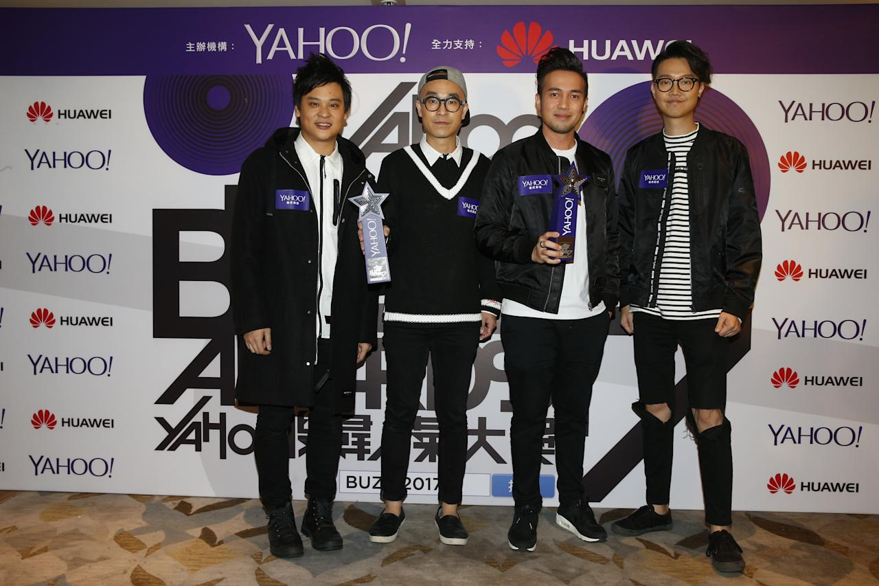<p>Dear Jane wins Top Buzz Local Group and Top Buzz Original Song at the Yahoo Asia Buzz Awards 2017 in Hong Kong on Wednesday (6 December).</p>