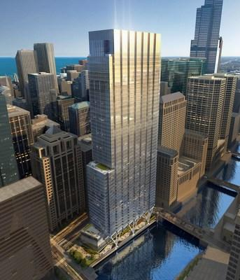 110 North Wacker Drive, image © Goettsch Partners