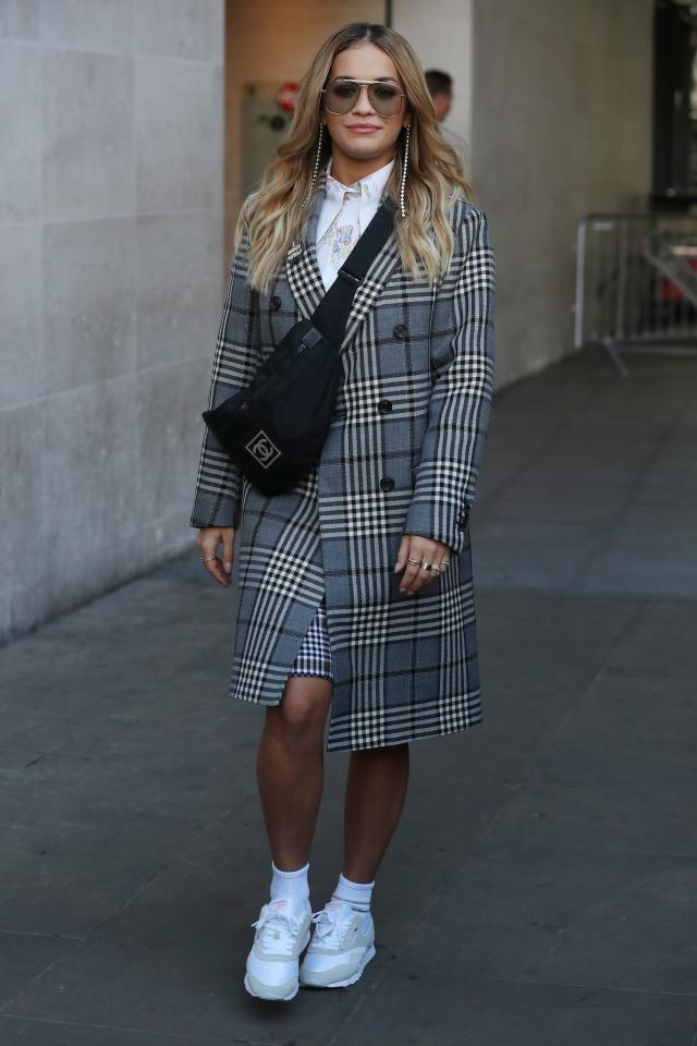 Rita Ora seen at BBC Radio One on Sept. 18 in London, England.